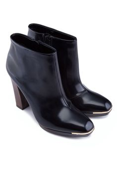 CHARLES & KEITH Black Covered Ankle Boots 簡約踝靴