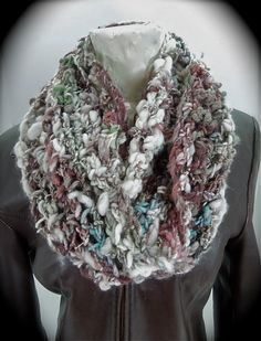 Infinity scarf crocheted scarf $39
