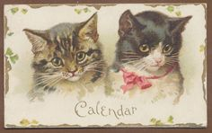 Cover for Victorian Xmas Calendar for 1897. Pages from 1898 calendar are posted elsewhere on this board. Helena Maguire.