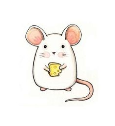 Cute mouse drawing for mug. Maus Illustration, Illustrations, Kawaii Drawings, Easy Drawings, Cartoon Drawings, Cute Little Drawings, Dibujos Cute, Cute Mouse, Animal Drawings