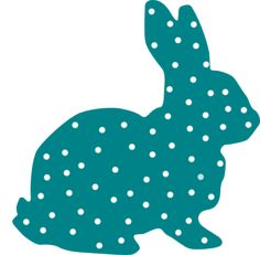 Bunny Polka Dot Silhouette clip art