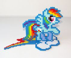 Perler Bead My Little Pony Friendship is Magic by NerdyNoodleLabs, $20.00
