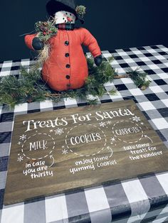 This is a 12x18 Santa cookie tray, Made out of pine wood your choices of colors. Can be personalized with your kiddos names. Christmas Crafts To Sell, Christmas Wood, Christmas Baking, Christmas Time, Christmas Ideas, Christmas Decorations, Xmas, Christmas Ornaments, Santa Cookies
