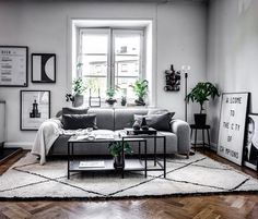 33 Amazing Grey White Black Living Room Decor Ideas And Remodel. If you are looking for Grey White Black Living Room Decor Ideas And Remodel, You come to the right place. Here are the Grey White Blac. Living Room Green, Living Room Interior, Home Living Room, Apartment Living, Living Spaces, Black White And Grey Living Room, Living Room Color Schemes, Living Room Designs, Design Salon