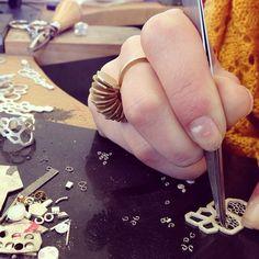 Vanilla Ink jeweller at work #goldsmith
