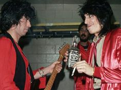 Keith Richards and Ronnie Wood of the Rolling Stones