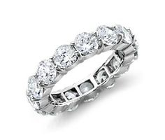 Diamond Eternity Ring in platinum #wedding #band.....This was perfect for me:) And a great surprise as well:) Thanks babe!