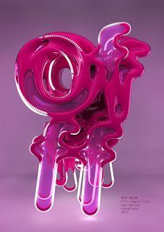 New neon on Behance #3D #design #poster