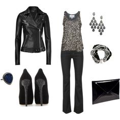 Black and Silver - Click image to find more Women's Fashion Pinterest pins