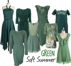 Soft Summer Green by moni-ssu, via Polyvore