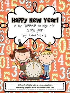 Math and Literacy New Year Activities!