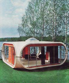 "anne-christelle: Maison ""cube"" - the perfect lake house. I love 60s snd 70s design."