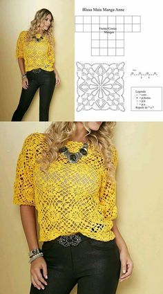 Crochet top Ideas using square