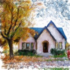 House 1922  Digital Painting  Elizabeth Barros