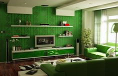 Shocking Green Calming Colours For Living Room