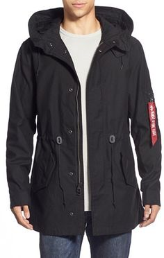 Alpha Industries 'M-59' Hooded Fishtail Parka https://api.shopstyle.com/action/apiVisitRetailer?id=496898533&pid=uid8100-34415590-43