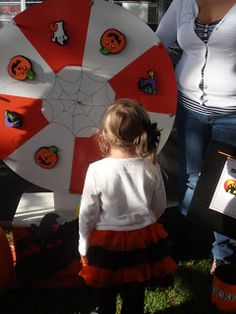 My Sweet Creations: Halloween Carnival- make this one with black and white, clown face in middle.