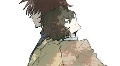 When Dazai leans on Oda's tombstone, he is actually leaning on Oda's back.. (T_T)