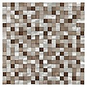 Metallico Earth Metal and Glass Mosaic - another option for shower floor pan Pebble Mosaic, Stone Mosaic, Mosaic Glass, Decorative Tile Backsplash, Glass Tile Backsplash, Backsplash Ideas, Tile Ideas, Warm Color Schemes, Shower Floor