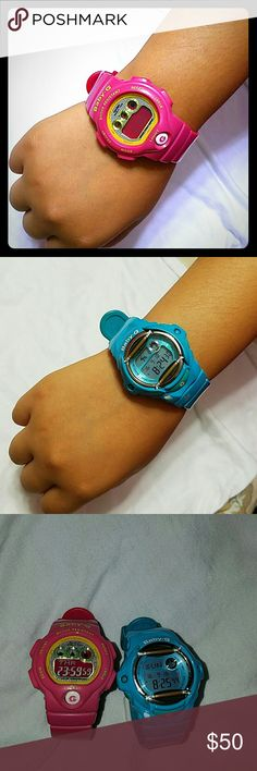 Baby G-shock There is a baby blue and pink Baby G- it's in great quality. G-Shock Accessories Watches