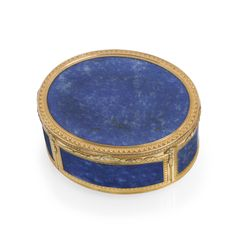A LOUIS XV GOLD AND LAPIS LAZULI SNUFF BOX, PARIS, 1768 Estimate  10,000 — 15,000  USD LOT SOLD. 23,750 USD