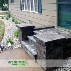 Versa-Lok columns are a great way to give a finished look to your entry way steps.