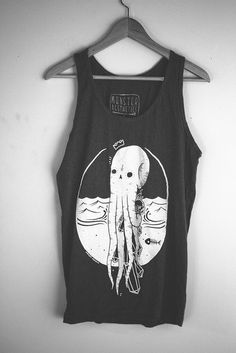 """Cute nautical black muscle shirt. Adorable octopus."" // Purely for the octopus. :)"