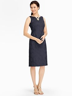 Talbots - Peony Matelasse Seamed Sheath     Misses Discover your new look at Talbots. Shop our Peony Matelasse Seamed Sheath for stylish clothing and accessories with a modern twist at Talbots