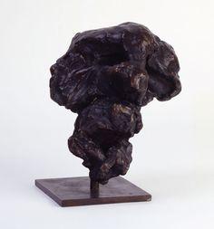 """Head #1"", 1972, Willem de Kooning, American, b. The Netherlands (1904-1997), bronze, 8 x 8 1/2 x 8 1/2 in. Gift of Anne and Benjamin Cone, 1974. 1974.2175"
