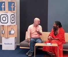 with Anupam Kher ji  at Facebook studio, Mumbai