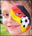 Fussball Fahne. Kinderschminken Evelina Iacubino