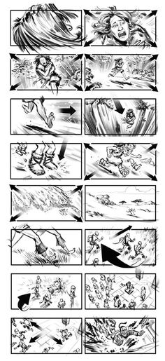 Storyboards by Mark Harris.  Storyboards Inc.