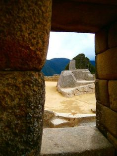 Intihuatana, Cusco, Peru.