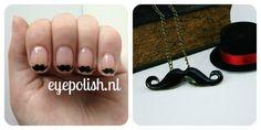 Mustache Nails, Mustache Necklece