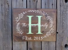 Custom Name Sign Pallet Last Name Wood Sign by DistressedLuv