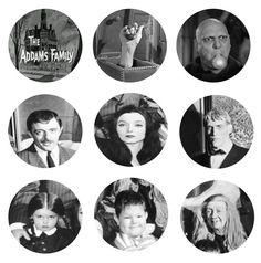 THE ADDAMS FAMILY Tv Show Set of 9  1 Inch by ButtonsMagnetsMore, $3.99    25% OFF SALE! SUNDAY FUNDAY NOVEMBER 25TH 2012! - Use the coupon code SUN25 at checkout to receive 25% off your order!