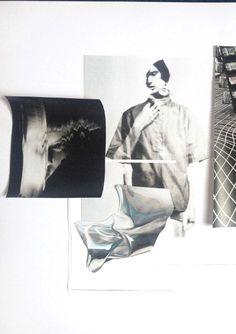 Fashion Moodboard - fashion design research & theme development; creative process // Amy Dee