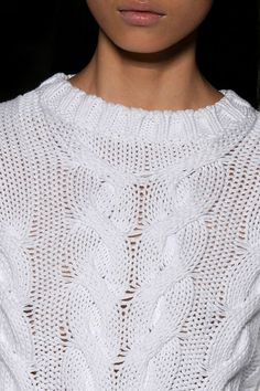 simple white sweater knit.