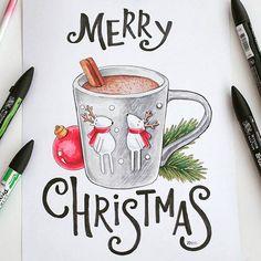Merry Christmas. Новый год. Рождество. Какао. Кружка. Чашка. Горячий шоколад. Зима. Вкусно. Уютно. Ёлка.