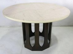 Mahogany Dining Table with Travertine Top by Harvey Probber 2