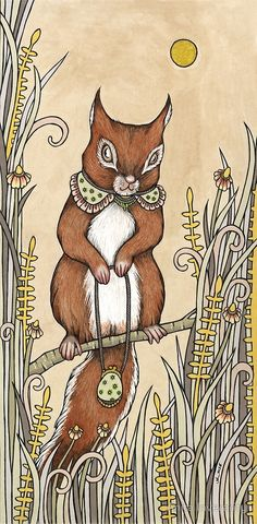 Anita Inverarity | INK on illustration board | Squirrel