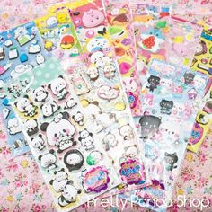 Set of 10 Kawaii Japan puffy stickers bundle of 10 puffy pvc sticker set lot, Other Kawaii Stickers, Cute Stickers, Neko Cat, Kawaii Things, Sticker Bomb, Free Boxes, Kawaii Stationery, Flower Boxes, Washi Tape