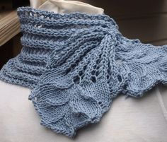 Knitting Pattern for Hyacinth Scarf - floral lace neckwarmer by KnitChicGrace is…