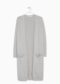 Long cotton cardigan