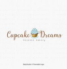 Custom Logo Design Premade Logo for Photographers - cupcake logo bakery logo bespoke logo small business logo graphic design bespoke bakery