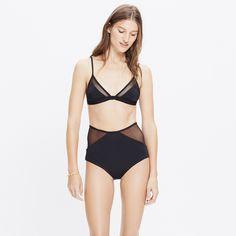Mara Hoffman® Mesh Combo Triangle Bralette Bikini Top : swim & beachwear | Madewell