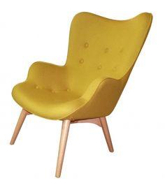 Bobby Armchair - Mustard Schots $599