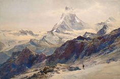 Edward Theodore Compton (1849 - 1921) - The Matterhorn seen from near the Rothorn Hut