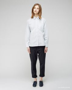 MHL by Margaret Howell / Single Pocket Shirt  Hope / News Trouser  Jil Sander / Laser Cut Heeled Oxford