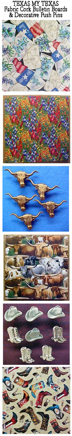 There's no place like TEXAS. But if you can't be here, bring it to  you with a Texas Fabric Cork Bulletin Board and Decorative Push Pins.  A perfect gift for the Texan, the Wannabe Texan or the misplaced Texan.  See fabric and push pin selections at www.PushPinsAndFabricCorkBoards.com.Choose from four sizes, with or without message ribbons. Or, choose from over 1000 fabrics.  #fabriccorkboards #decorativepushpins  #texas